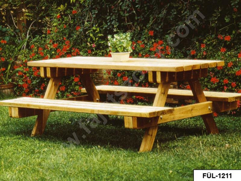 FÜL-1211 Egybeépített asztal padokkal