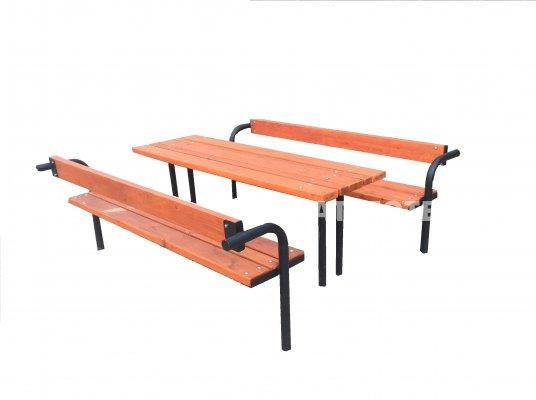 FÜL-1224 asztal paddal