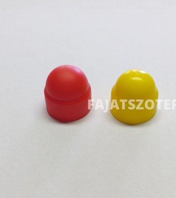 A-99-A csavarvédő kupak 17-es piros,sárga