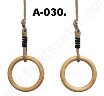 A-030 Fa gyürü kötéllel